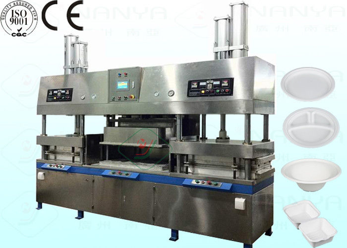 Biodegradable Small Paper Pulp Molding Machine with 700 Pcs / Hour